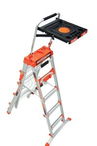 Angled Multipurpose Ladder for extended reach at home